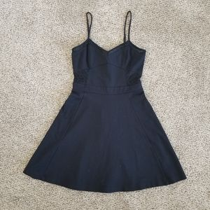 Express Skater Skirt Dress with Lace Details
